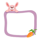 Frame with rabbit stock photography