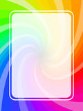 Frame rainbow Stock Photography