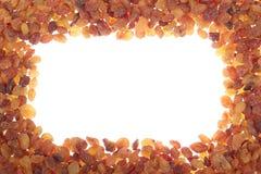 Frame of raisins Royalty Free Stock Photography