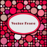 Frame with random colored circles Stock Images