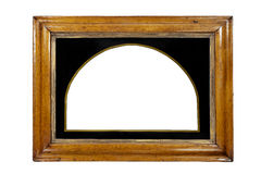 Frame rectangular wall hanging or mirror some gilding isolated w. Light coloured wooden picture frame isolated with inner and outer clip paths Stock Photo