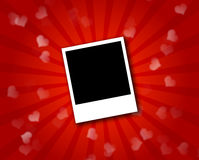 Frame on red background. A polaroid frame isolated on a red background Royalty Free Stock Image