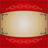 The frame on the red background Royalty Free Stock Photos
