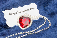 Frame of red and blue paper hearts with copy space Stock Image