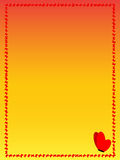 Frame of red butterflies on a yellow background. Rectangle Royalty Free Stock Images