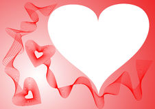 Frame with red hearts Royalty Free Stock Images