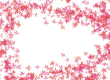 A FRAME OF RED LEAVES Stock Photography