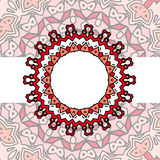 Frame red mandala Stock Photo
