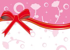 Frame with red ribbon Royalty Free Stock Images