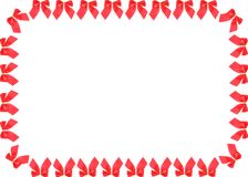 Frame of red ribbons Stock Image