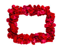 Frame of red rose petals Stock Image