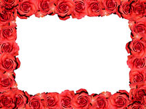 Frame of red roses. Frame: red roses - symbolic image for love, affection and Valentines Day Stock Photography