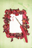 Frame of Red Roses Stock Images