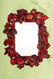 Frame of Red Roses Royalty Free Stock Photo