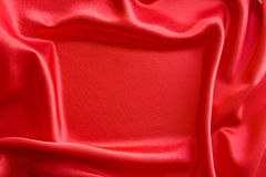 Frame on red satin Stock Image