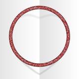 Frame Red Sequins Circle. Glitter, sparkle, stars. Frame made of Red sequins in the form circle. Mosaic sequins glitter sparkle stars vector illustration