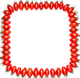 Frame of red tomatoes. On a white background Royalty Free Stock Photos