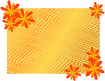 The frame of red and yellow flowers Stock Images