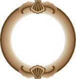 Frame redondo decorativo ilustração stock