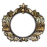 Frame redondo do estilo do Victorian Fotos de Stock