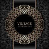 frame redondo do ouro do vintage Fotos de Stock