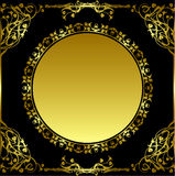 Frame redondo retro Ilustração Royalty Free