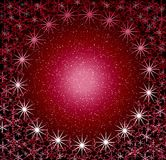 Frame redondo rosado da neve do Natal. ilustração do vetor
