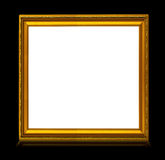 Frame with reflection isolated on black Royalty Free Stock Photography