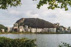 Rio de Janeiro luxury apartments near Lagoa Rodrigo de Freitas stock image