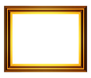 Frame retangular do ouro Foto de Stock Royalty Free