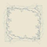 Frame retro da flor Imagens de Stock Royalty Free