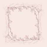 Frame retro da flor Imagens de Stock
