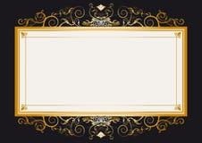 Frame retro do ouro ilustração do vetor