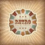 Frame retro. Over vintage background  illustration Stock Image
