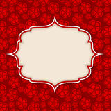 Frame in  retro vintage seamless background. Royalty Free Stock Image