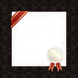 Frame with ribbon and seal Royalty Free Stock Photography
