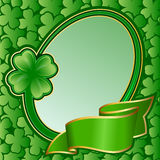 Frame with ribbon on St. Patrick's day Stock Images