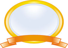 Frame and ribbon (Vector) Royalty Free Stock Photo