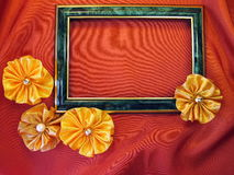 Frame with ribbons Stock Photos