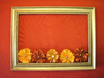 Frame and ribbons Royalty Free Stock Photo
