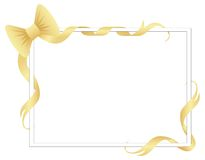 Frame with ribbons and bow Royalty Free Stock Photo