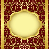 Frame with ribbons and golden center - vector Stock Image
