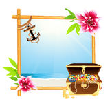 Frame with riches. Illustration, Ai file included Royalty Free Stock Photography