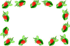 Frame of ripe strawberries Royalty Free Stock Photos