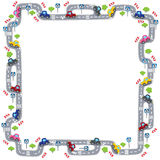 Frame with road Royalty Free Stock Photo