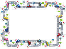 Frame with road Stock Photography