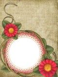 Frame romântico com flores Fotos de Stock