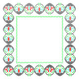 Frame with romanian traditional theme Royalty Free Stock Photos