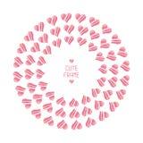 Frame of romantic hearts. Beautiful  vector Royalty Free Stock Photos