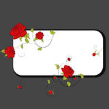 Frame with rose Royalty Free Stock Image
